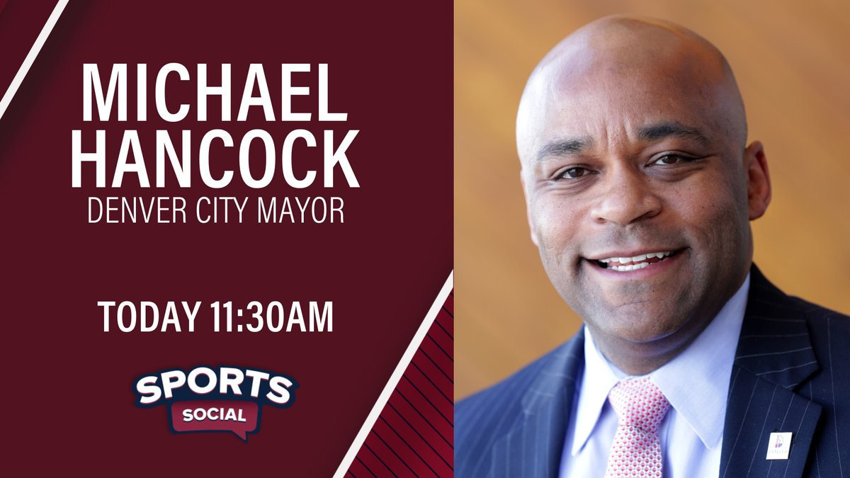 Denver @mayorhancock will appear on today's Sports Social to discuss this weekend's protests, COVID-19 and more. https://t.co/pq0Hge14mS