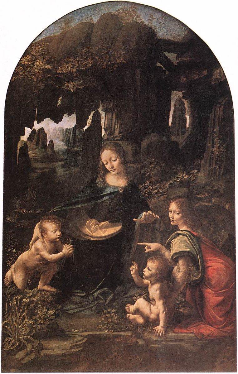 The Virgin of the Rocks, 1485 #davinci #italianart<br>http://pic.twitter.com/qCtR7nET3z