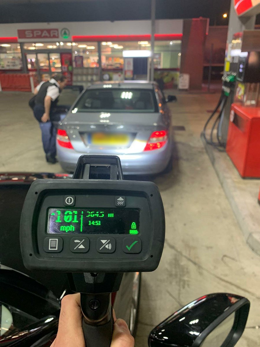 As we continue to focus on speeding offences, particularly in priority areas, this car was spotted by #EastRPT officers on the A13 at over 100 MPH in a 70 zone. Please #SlowDownSaveLives. We will continue focus on the A13, A12 and A406. Not keeping it a secret!