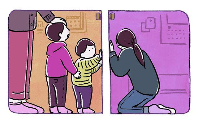幼子2人抱え、夫には持病が 感染した記者の60日間  3歳と1歳の息子は、突然姿を見せなくなった私を、朝から晩まで「ママ」と泣き叫んで探した。私がトイレのために部屋を出ると「みつけた!」と言わんばかりに抱きついてくる。夫が力ずくで押さえる。その繰り返しだった。