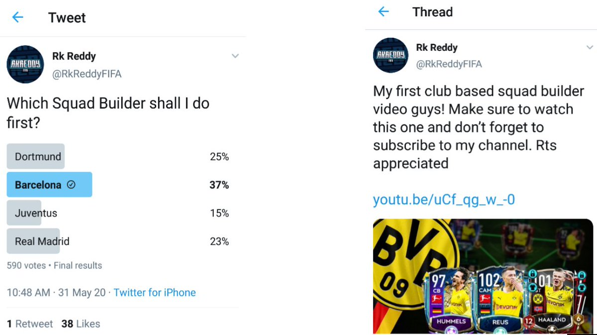 @RkReddyFIFA Somethings feels wrong dude , Barcelona won the poll so when it is coming out ?