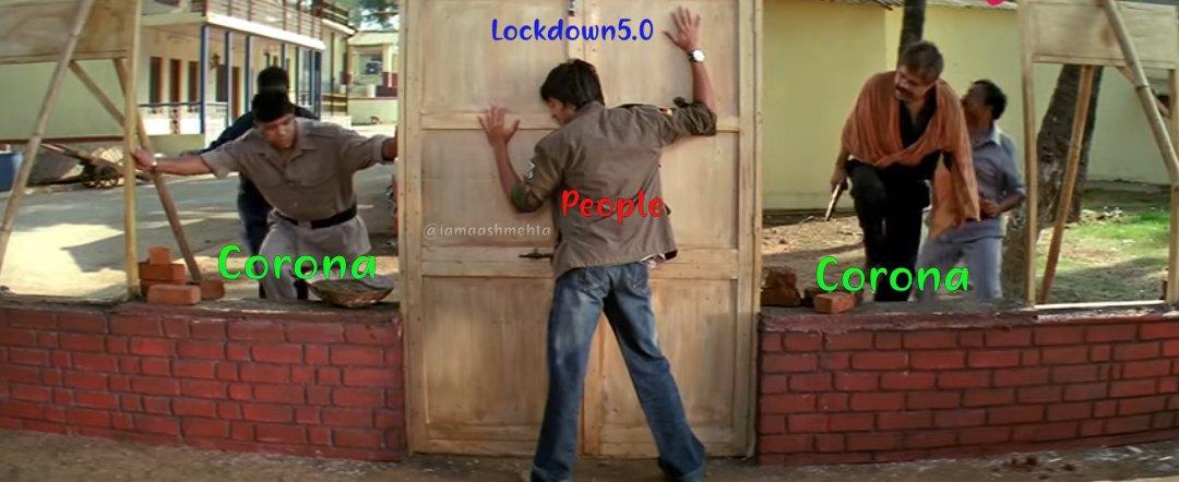 "#lockdown21 to #lockdown2 "" हम कोरोना को हराएंगे "" । #Lockdown3 to #Lockdown4 "" कोरोना को हराना है "" । #Lockdown5 aka #Unlock1  ""हमें कोरोना के साथ जीना होगा "" ।। #CoronaOutbreakpic.twitter.com/B8zk9mBjaw"