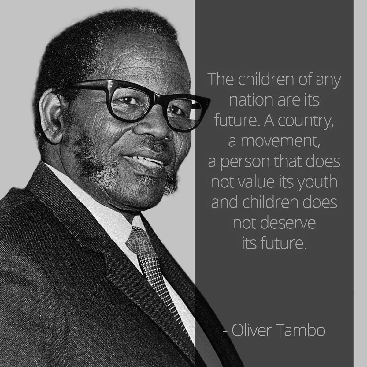 Today marks the beginning of #YouthMonth in South Africa🇿🇦.   As we reflect on the impact the young generation has made in shaping the trajectory of our country from 16, June 1976 and beyond, let us remember this poignant message from the late President of the ANC, Oliver Tambo. https://t.co/jjgKKkZUfb