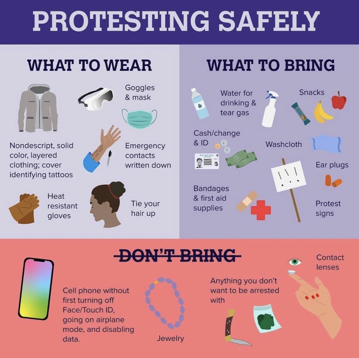 Protesting Safely: What to Wear, What To Bring, What You Shouldn't Bring