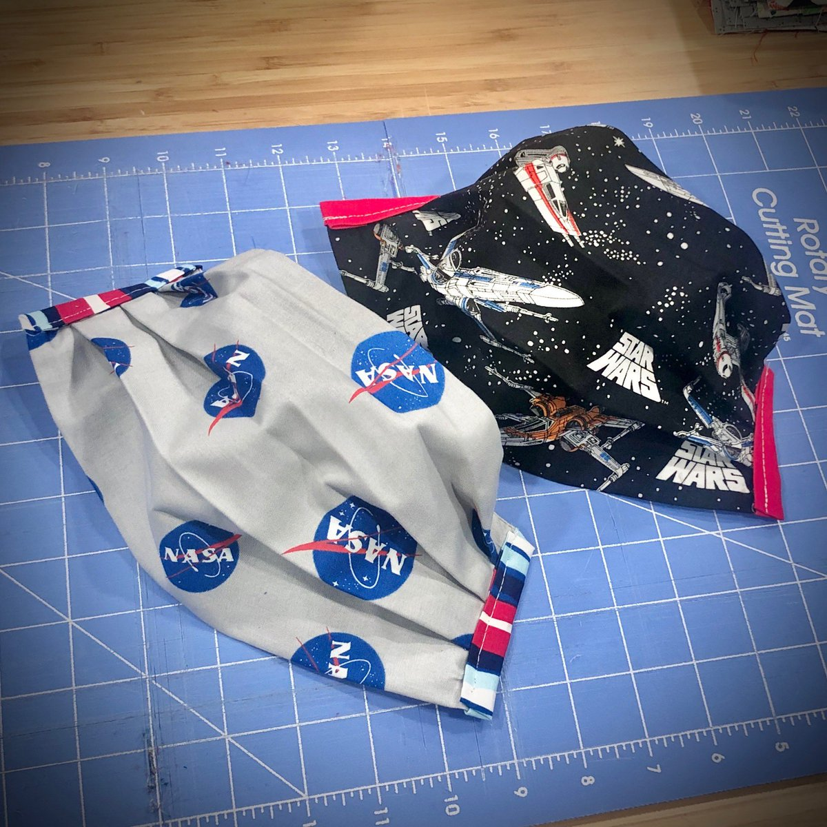 We have lift off! Our new #StarWars fabric arrived the same week America is back in space. 💫 🚀🔥 🌎   #LiveVaccarously #masks #nasa #wehaveliftoff #toinfinityandbeyond #spacex #launchamerica #lukeiamyourfather #maytheforcebewithyou https://t.co/pJhPj1Jgzi