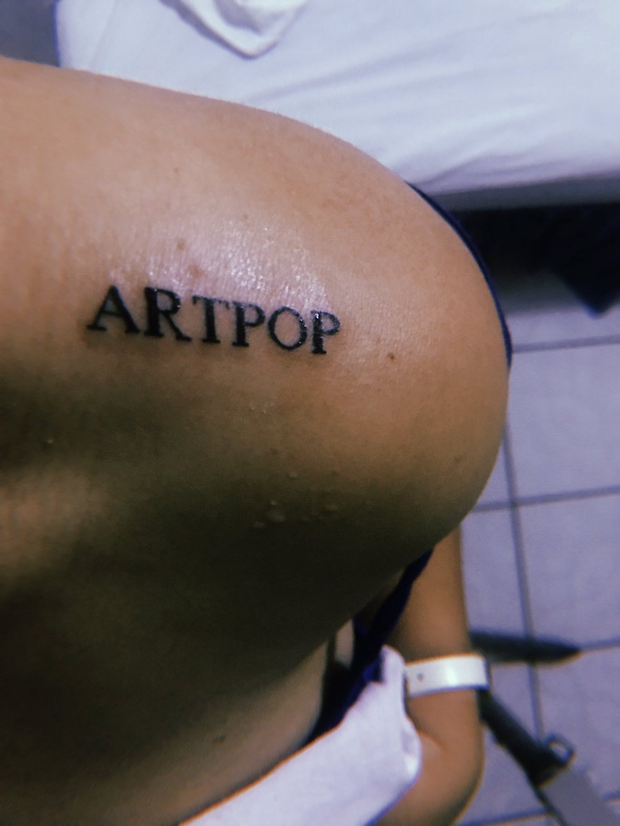 Free my mind, artpop, you make my heart stop. My artpop could mean anything! #tattoo #artpop #LadyGaga #fan @ladygagapic.twitter.com/UtZO8lhoCm