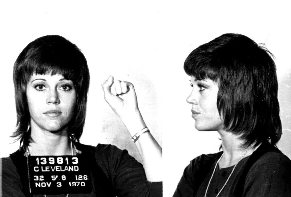 Jane Fonda has been protesting with people for her entire life. She's someone who knows what it takes and she's still out here, black panther style. Damn, she's fucking inspiring.