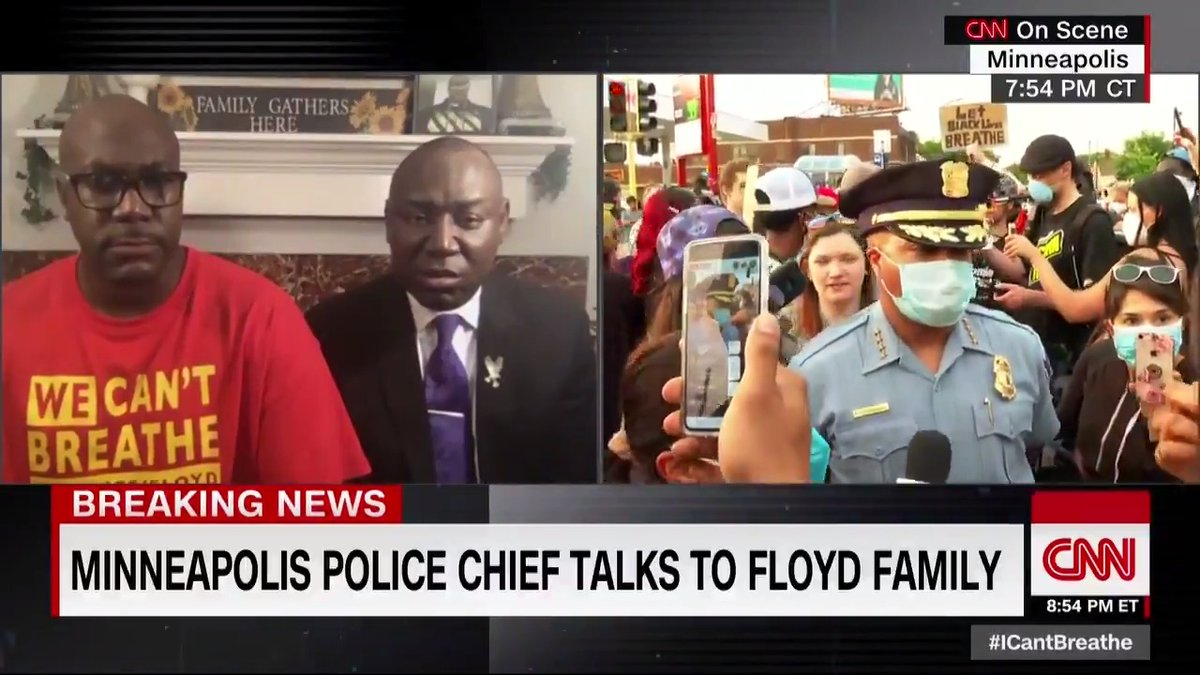 "All four officers involved in the death of George Floyd were ""complicit, including the three who havent been arrested, says Minneapolis Police Chief Medaria Arradondo, responding to a question asked by @sarasidnerCNN on behalf of Floyd's brother. cnn.it/2XKnTiY"