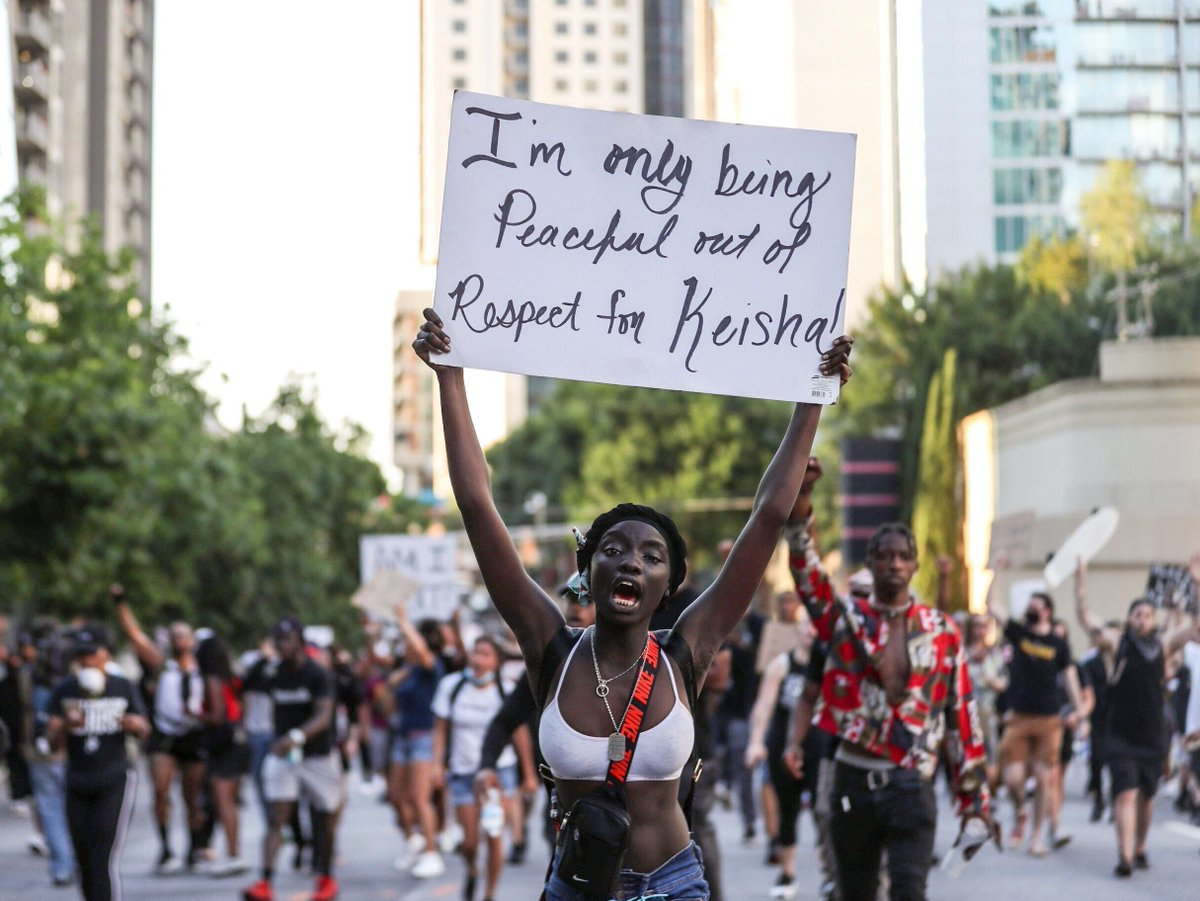 Atlanta. Stunning images by @AlyssaNo_L who is has been outstanding in telling the story of protest in Atlanta