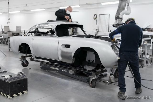 アストンマーティン『DB5ボンドカー』、25台を限定生産…回転式ナンバープレートなど再現#新型車 #アストンマーティン #クラシックカー