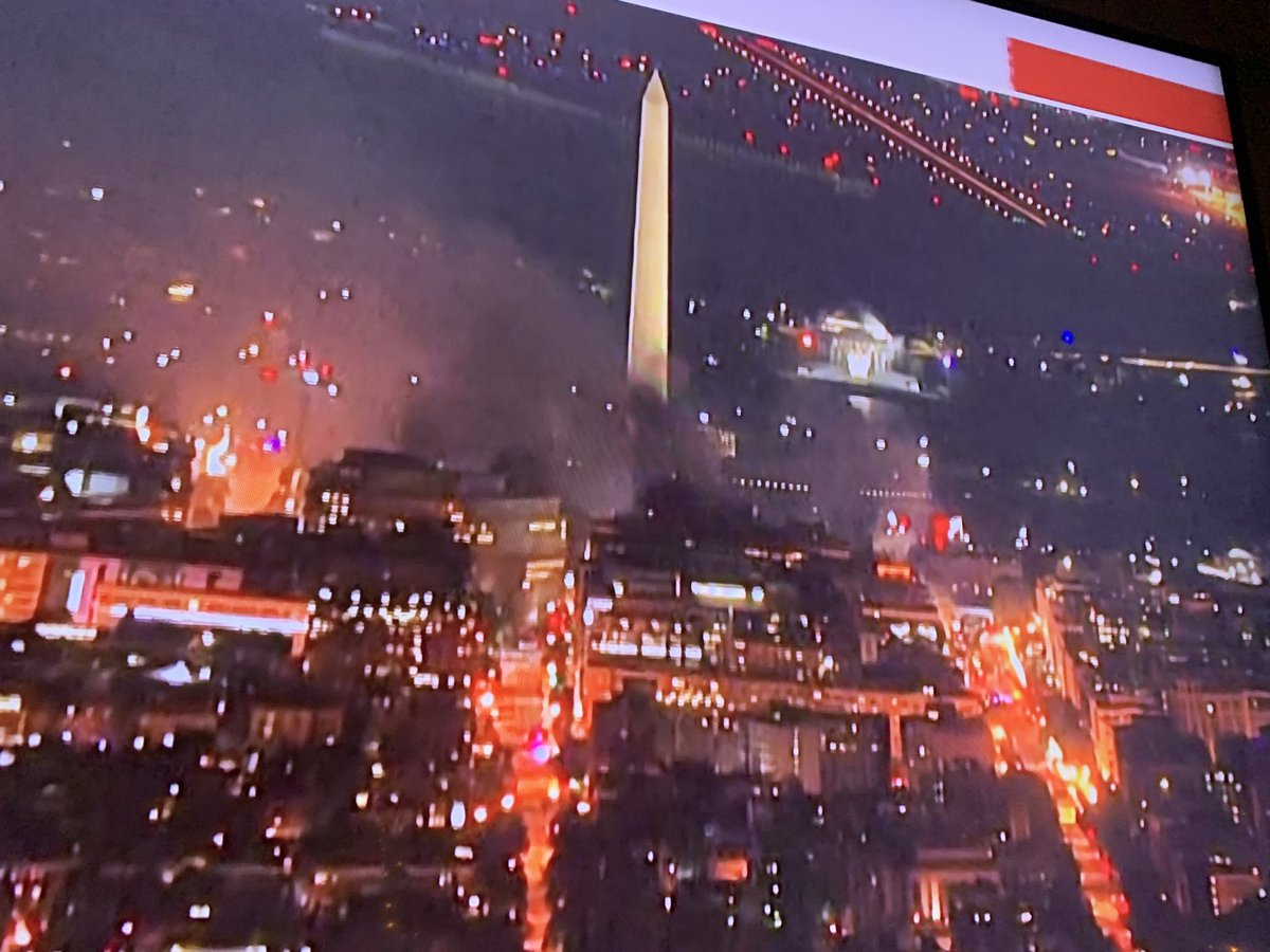 The nation's capital is legitimately on fire in every direction. This is unreal. https://t.co/hXNJ0LticL
