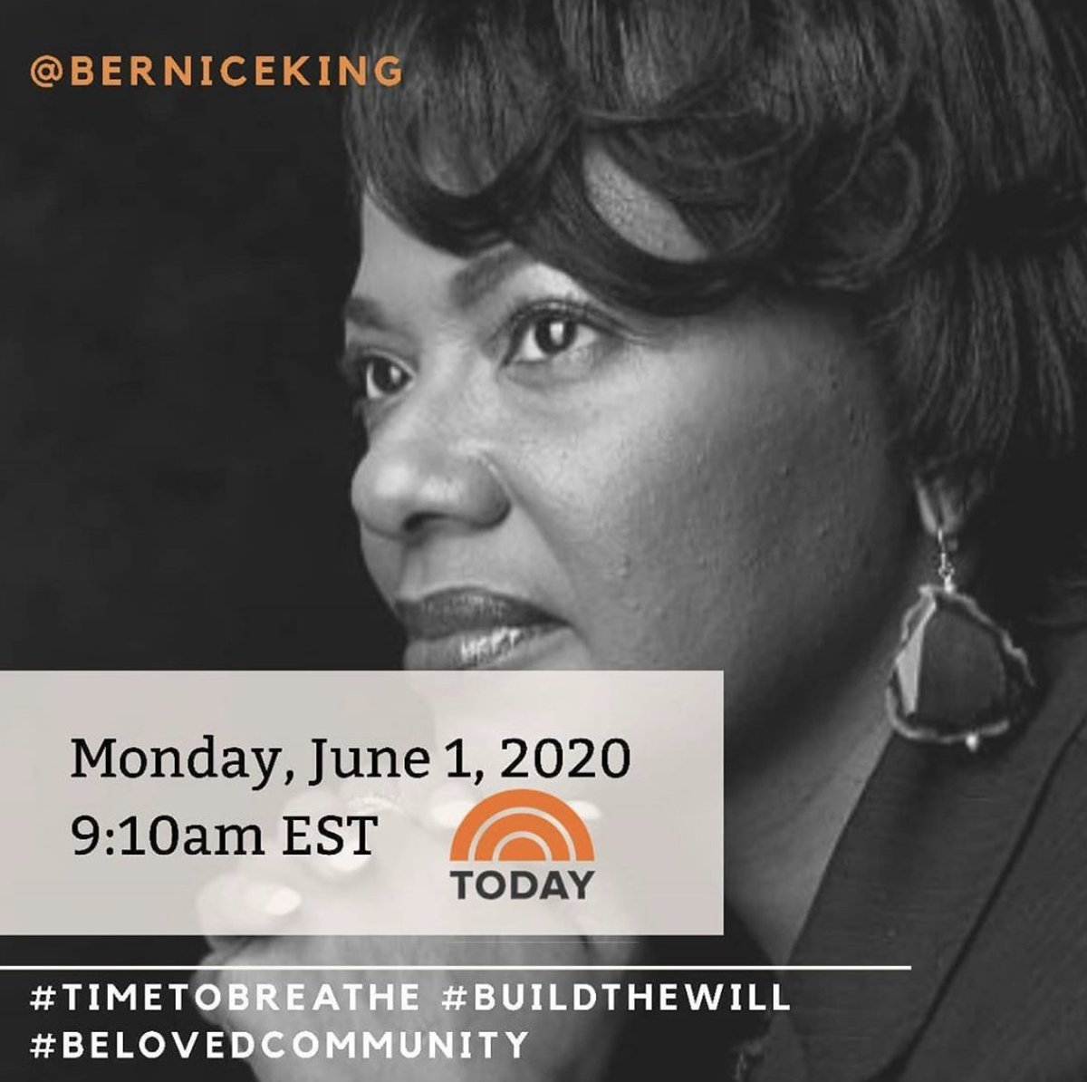 Tune in tomorrow to hear @BerniceKing