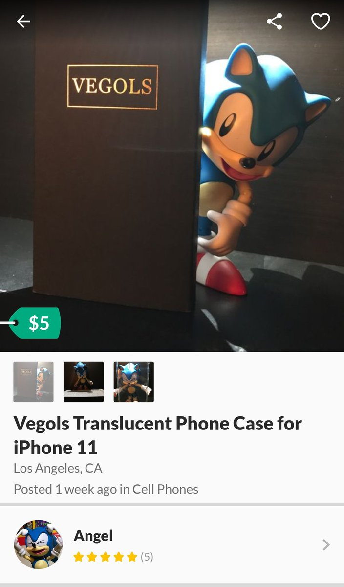 Replying to @heckingmexican: Found a seller on OfferUp who uses a Classic Sonic figure to show what they're selling