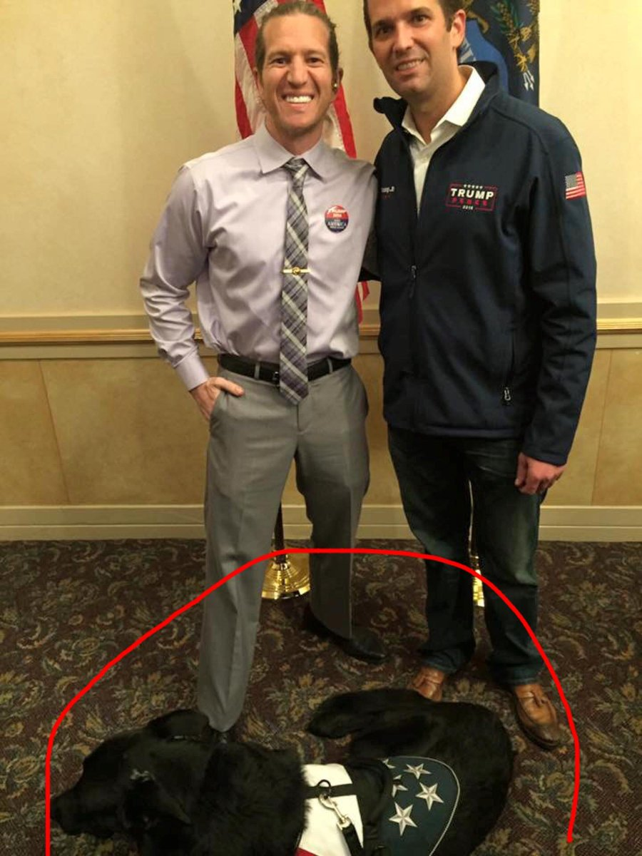 The shooter is on the left and thats Don Trump Jr on the right. Shooter was a huge fan of Trump and even attended the inauguration: (Click on the image to see in its entirety.) twitter.com/BeachPretzel2/…