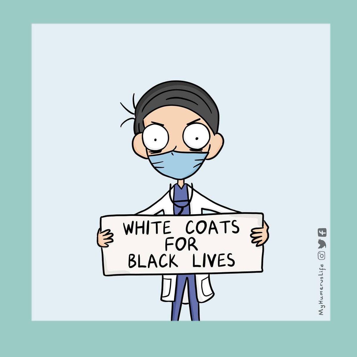 #Racism. It's not just a political issue.  It's a structural issue. It is a #health issue. It is an identity issue. As a generation who is aware of this, it is our responsibility to actively seek solutions instead of standing idly by. #BlackLivesMatter #whitecoatsforblacklivespic.twitter.com/lBvmWkoxcV