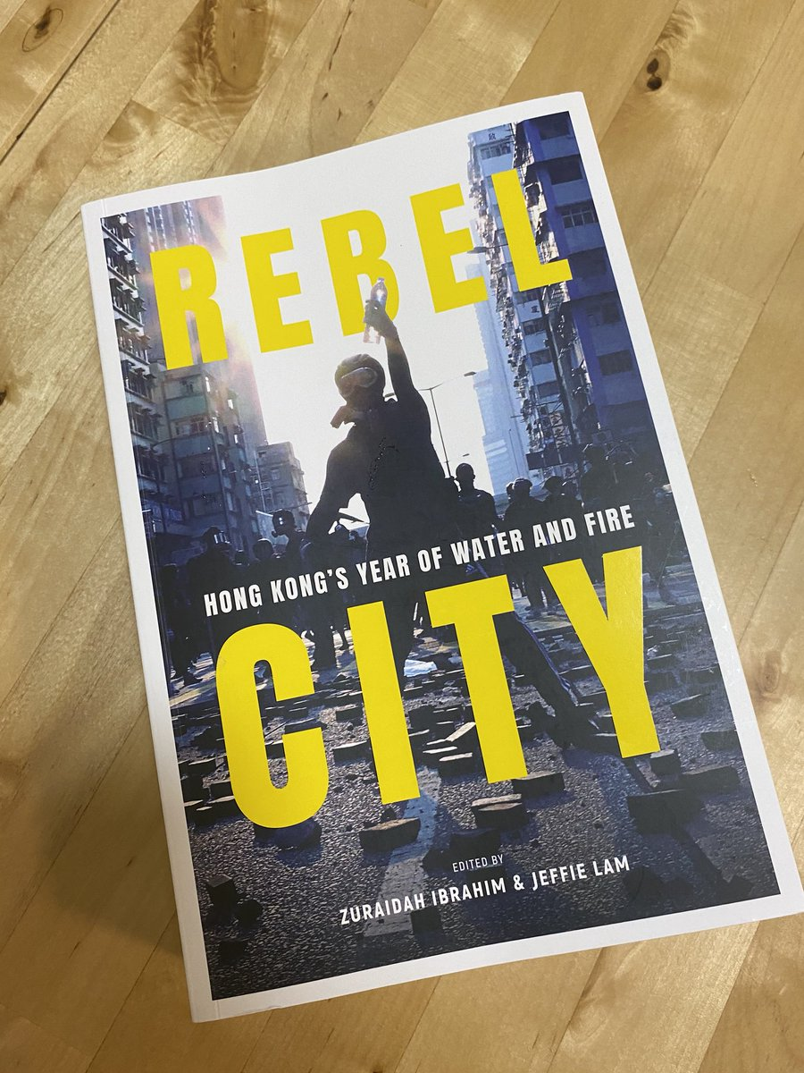 only now i realised i was too nervous that i've messed up the hashtag. anyway, you can find #RebelCityHK at major bookstores this week or online. warning: it is thick https://t.co/7hOP0DrhG6