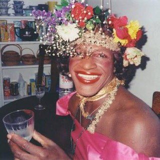 happy pride month y'all !! dont forget that marsha p. johnson, a black trans woman, threw the first brick at stonewall and spent most of her life advocating for lgbt rights. the community would not be here without her so as you're celebrating this month, remember her !!
