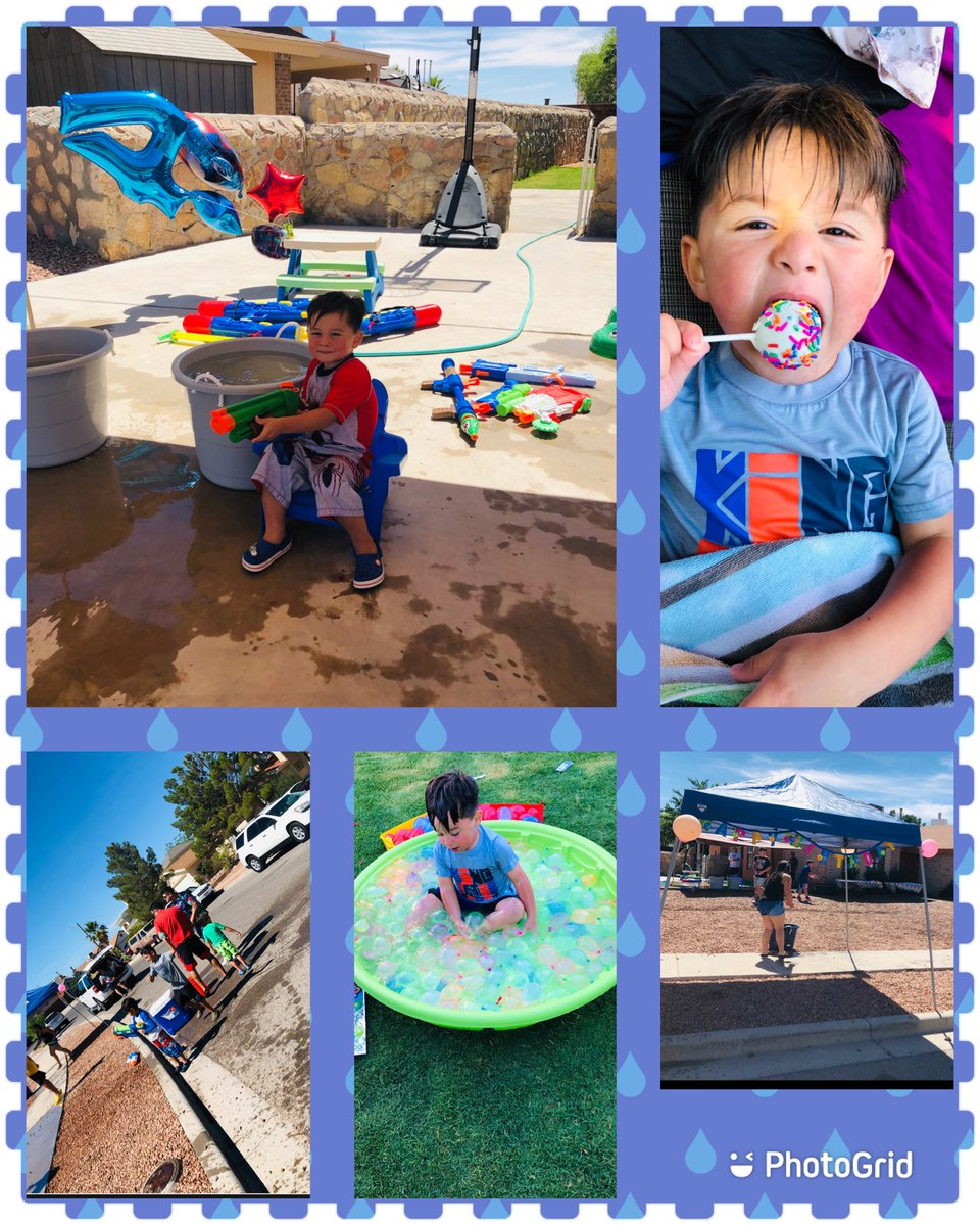 Happy 4th Birthday!!!  This BIG BOY managed to have a  drive thru WATER BATTLE......... &  THANK YOU to those who made it possible. #socialdistanced #drivethru #superfun #newnormal #blessedpic.twitter.com/zDetIqstkW