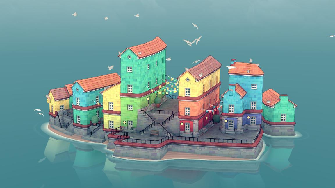 【ニュース】水彩調の島を作るSLG『Townscaper』6月にSteam早期アクセス配信開始へ。ブロックを置くだけで生まれていく美しい島