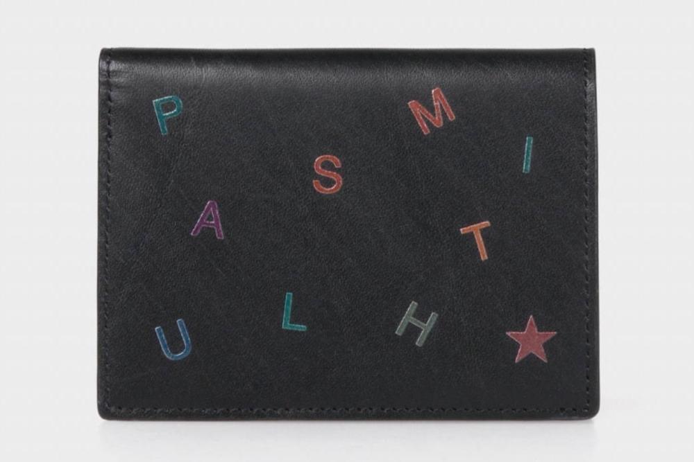 ポール・スミスのメンズウォレット、スター&レターを散りばめたミニ財布&レザーのフラグメントケース -