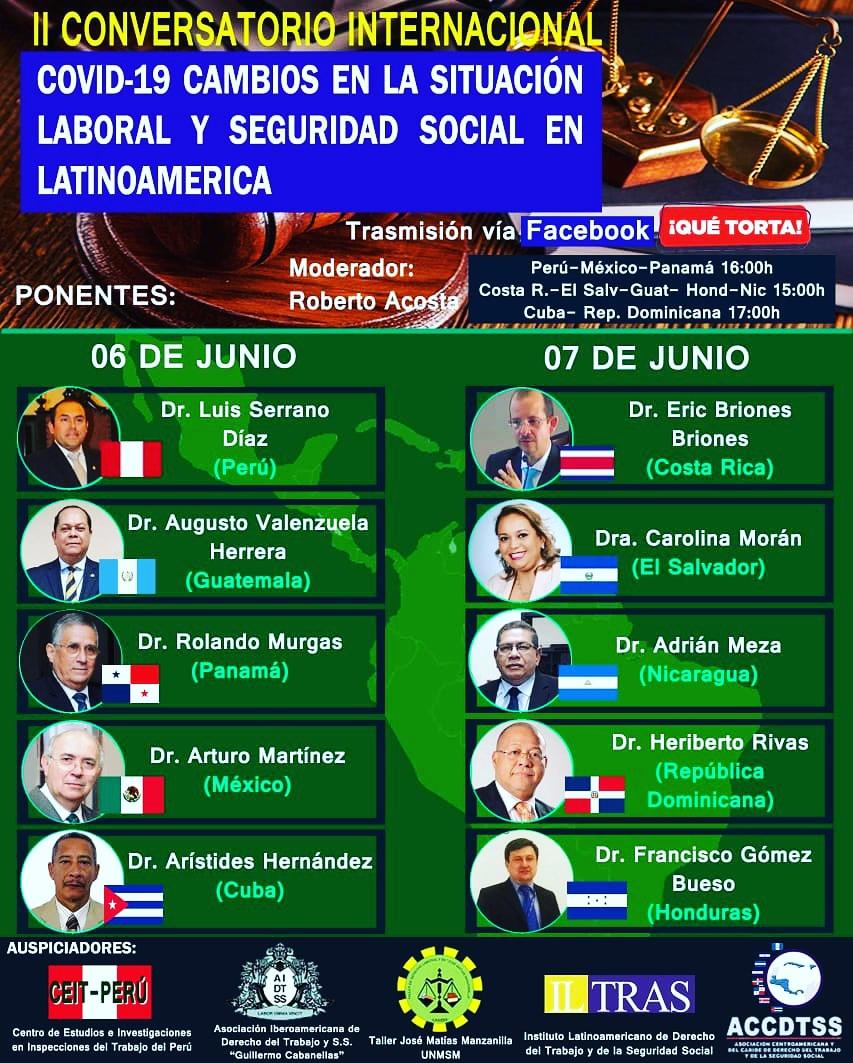 Todos invitados a nuestro II Conversatorio Internacional Latinoaméricano!!! pic.twitter.com/VKnkUcJfrJ