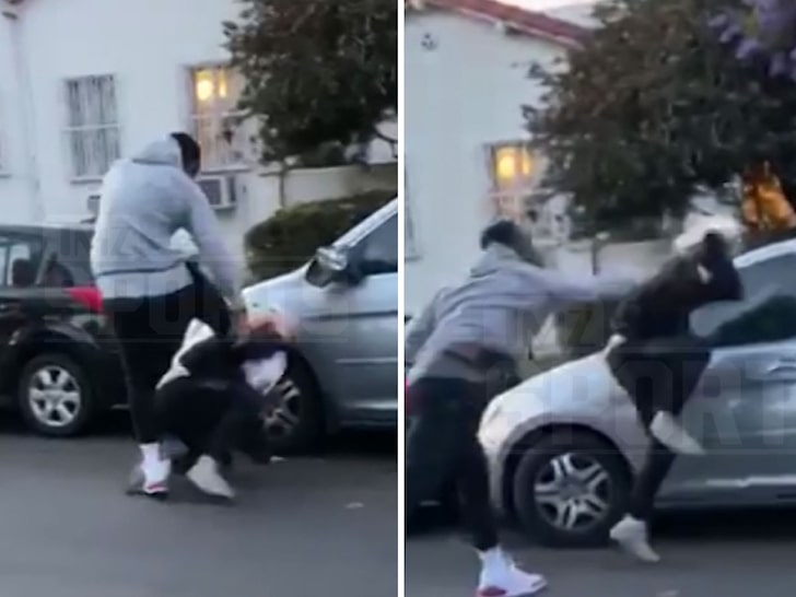 WATCH: NBA Star J.R. Smith Beats The Hell Out of Alleged Car Vandalizer During L.A. Riots!