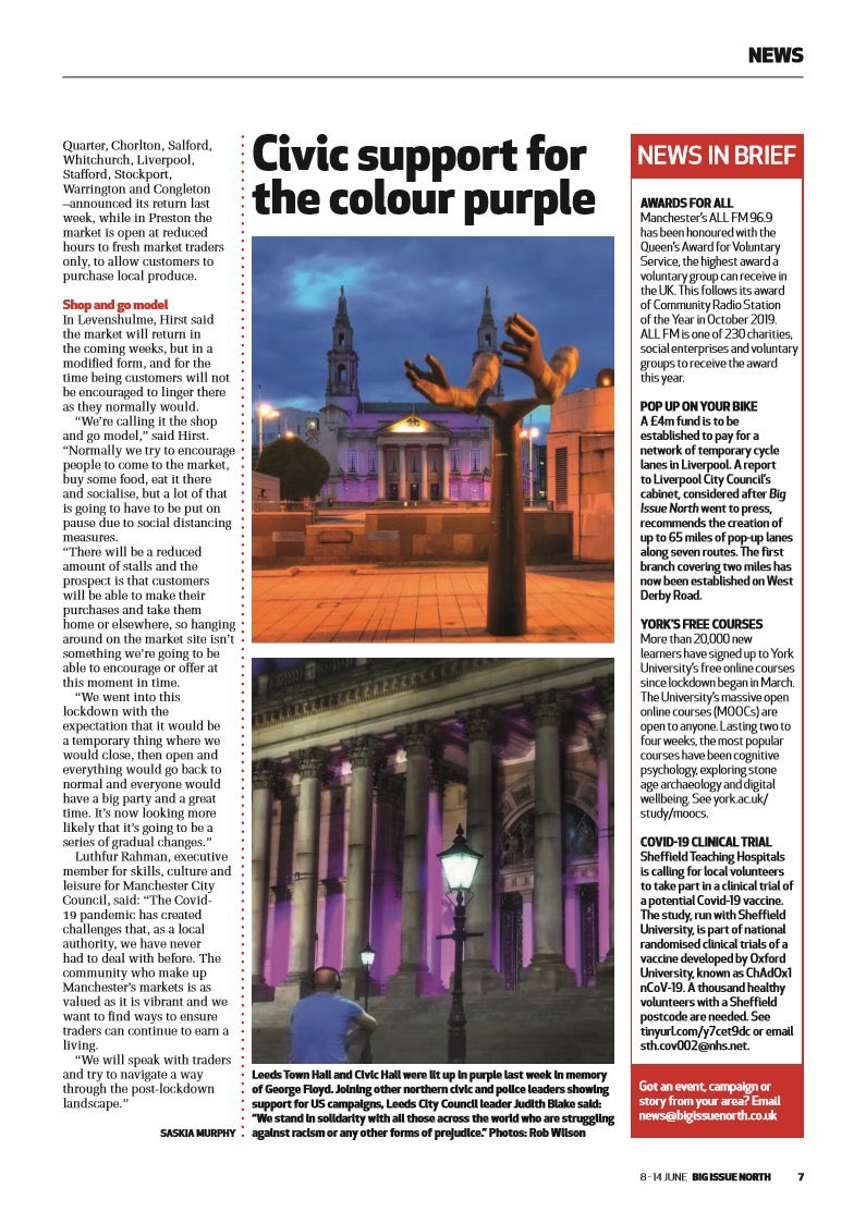 Options are limited to pick up a copy of @bigissuenorth - but there's options in the quoted tweet below, and you get your hands on my photos in print from #BlackOutTuesday last week 👌🏻 #Leeds #BLM #Solidarity ✊🏼 @cllrjudithblake @abigailmashall @_ShaidMahmood @LCC_BAME twitter.com/bigissuenorth/…