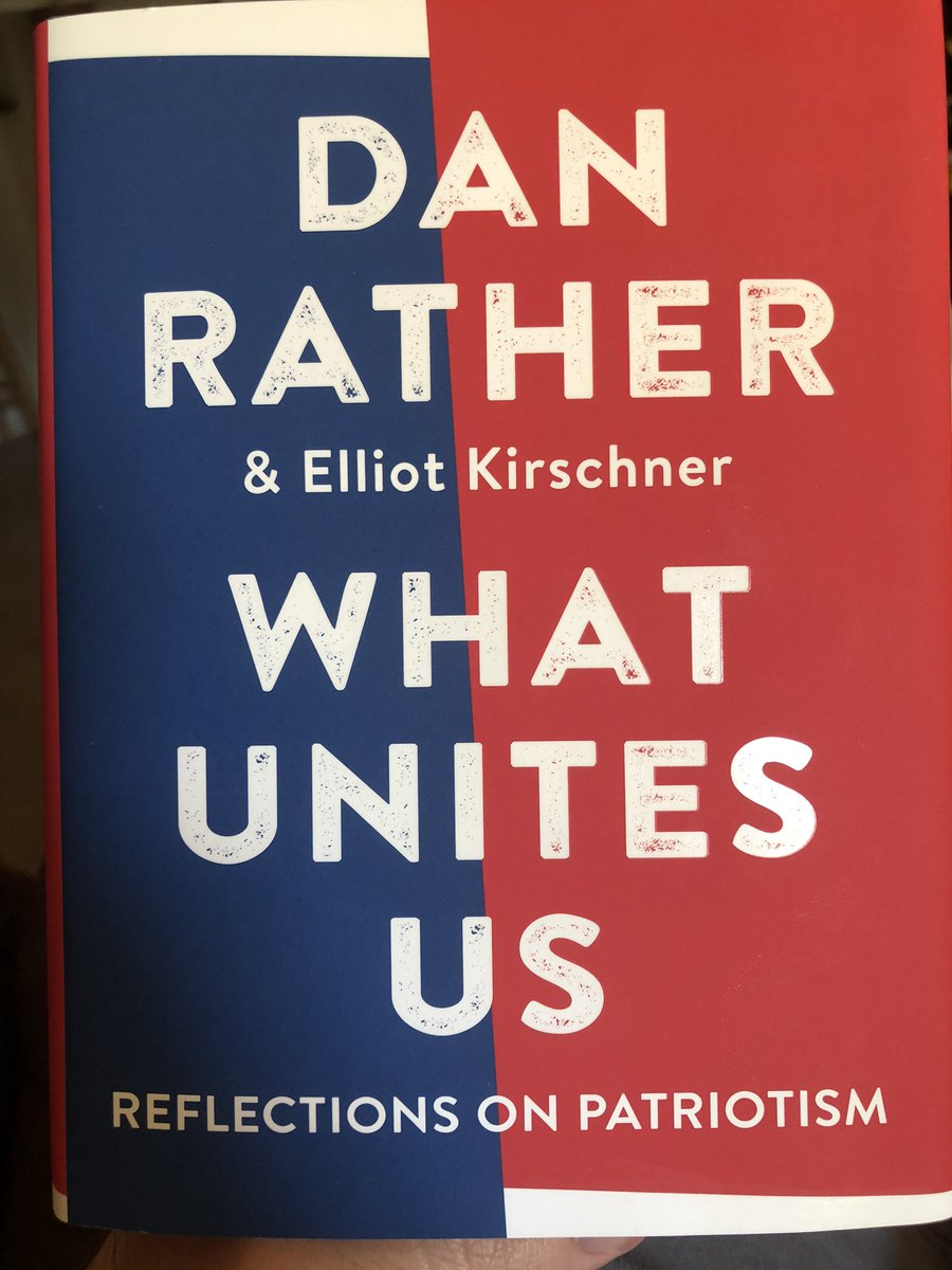 Doing a re-read of What Unites Us by @DanRather was exactly what I needed right now, especially today when folks are standing up and seeing the power of the people and the power of dissent. Keep fighting for a better future for our country, friends. https://t.co/PcSbsYcnif