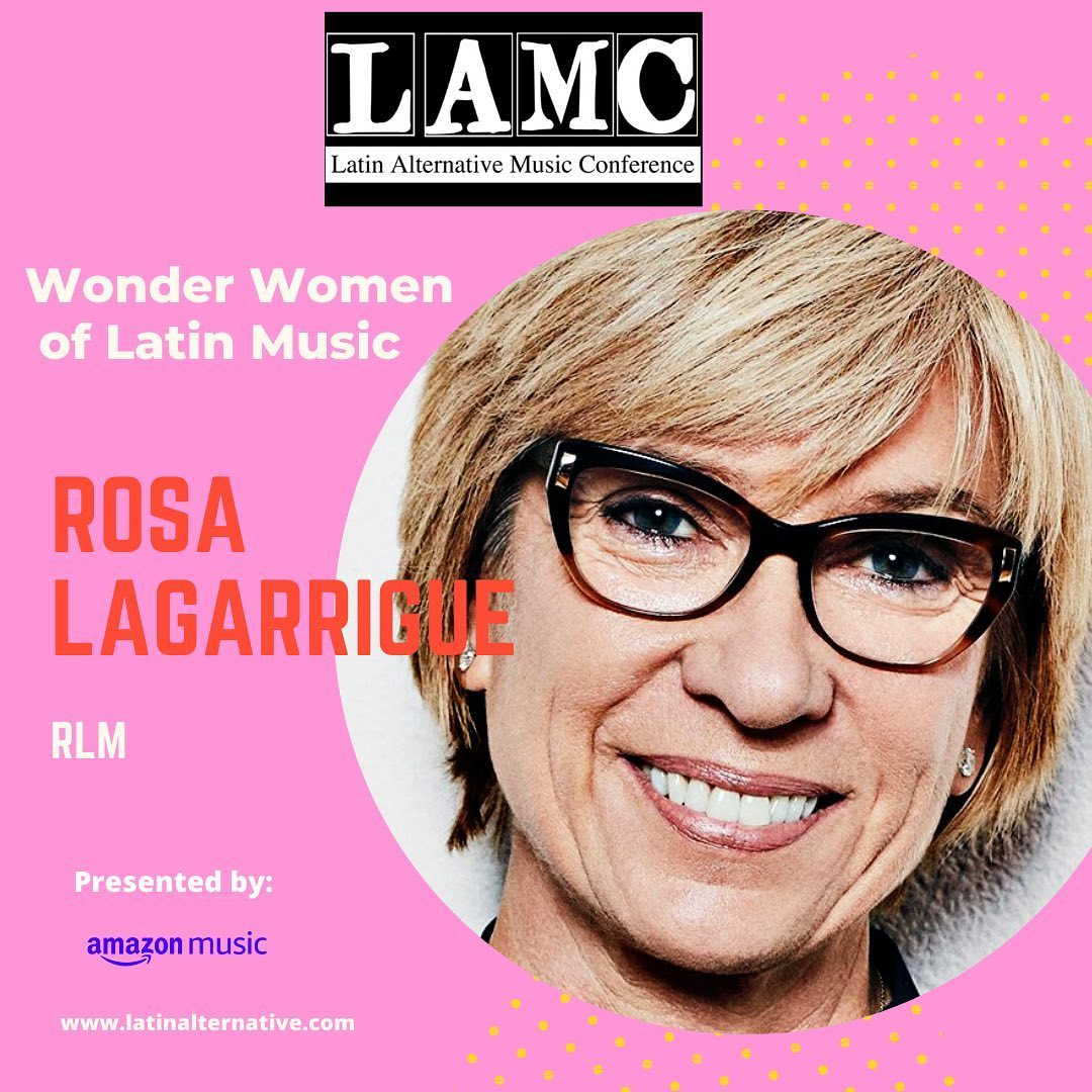 """🔊Don't miss #LAMC2020 #WWoLM panel, where @rosalagarrigue will have a conversation with 5 women also honored with """"Wonder Women of Latin Music"""" award.   ✅Tune in Thursday, June 11th at 18:35H (CET). Register for free at https://t.co/eL4ppuW6VW   @theLAMC @amazonmusic https://t.co/4wjBMEHHQm"""