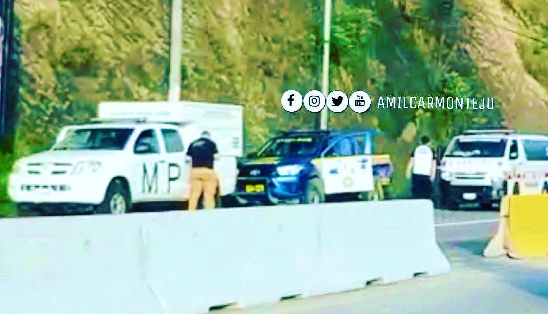 Hombre atropellado, falleció en km 20 de ruta Jacobo Arbenz, yendo de zona 25 hacia Palencia. Precaución.