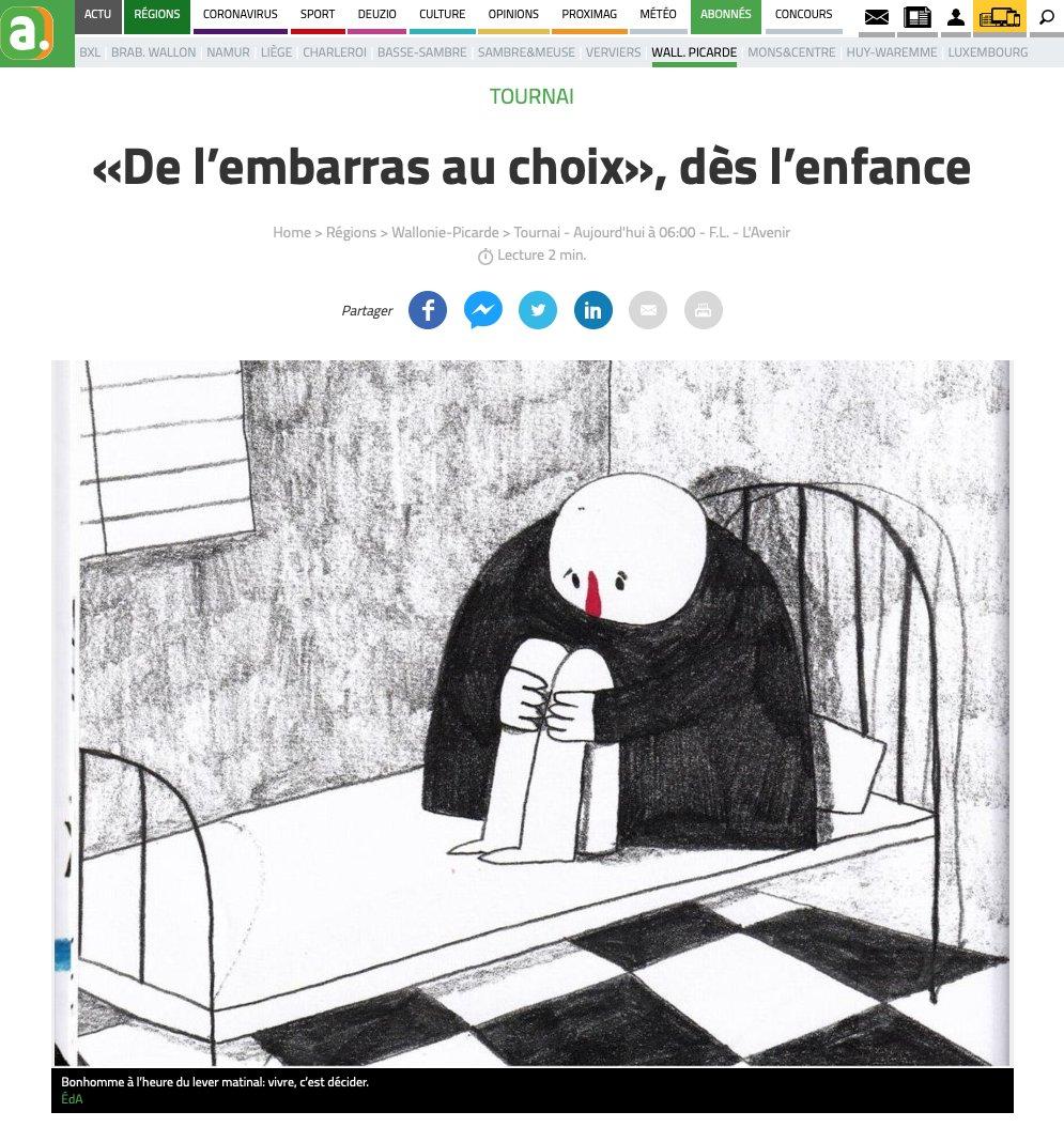 Sympathique article de Françoise Lison-Leroy dans l'Avenir à propos de De l'embarras au choix de Romane Lefebvre ! Merci Chantelivre #Tournai pour le coup de pouce 😚   https://t.co/nMfbhsjFZP https://t.co/IFk8q5c4Ca