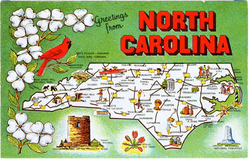 This week we visit a few of NC's beautiful state parks for #VacationNC. https://t.co/3IsljEIg7b  Image credit: North Carolina Postcard Collection (P052) https://t.co/NylmBQdAQE