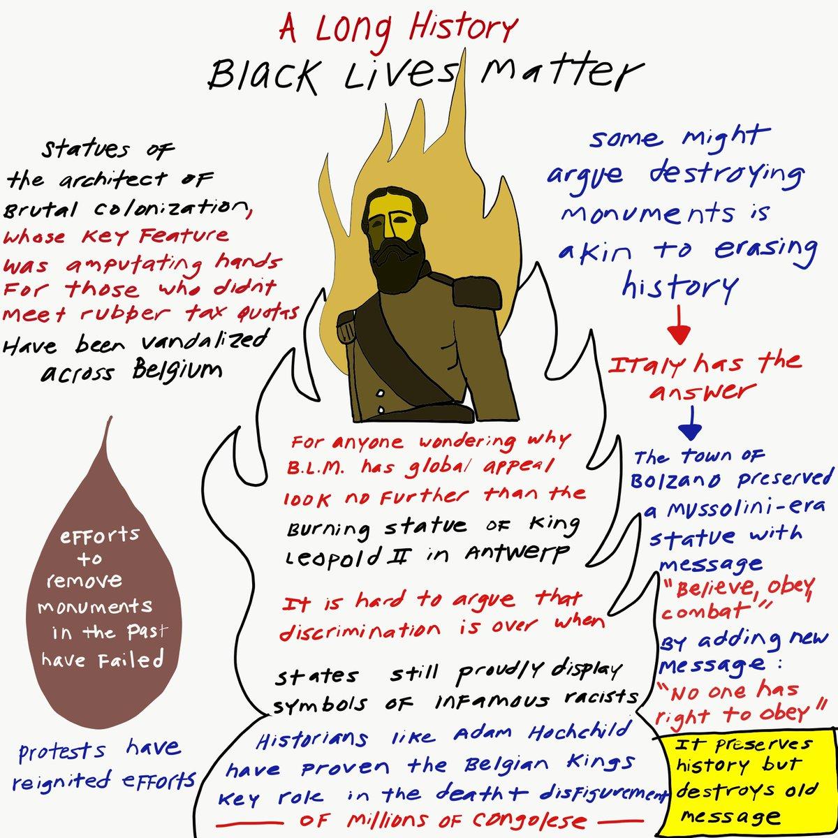 #BlackLivesMatter so #LeopoldMustFall or preserve history by adding context to destroy the #discrimination the king of #Belgique #Belgium stood for in #DRCongo https://t.co/nFna8GkG0o