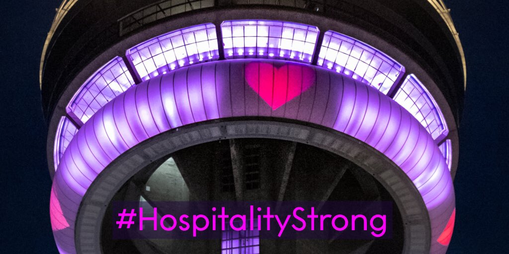 Tonight once again our exterior lights and digital screens will glow purple to support all hospitality workers affected by #COVID19. We stand with you #hospitalitystrong during this unprecedented time. 💜 #ourcommunityTO #tourismmatters #teamtoronto #mondaymotivation https://t.co/y7M2sMLoZ7