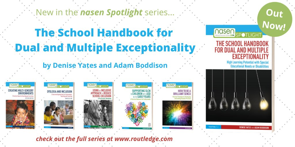 With a🌟June Saver🌟at https://t.co/0FQgpuqvKI, now's the perfect time to take a look at the @nasen_org Spotlight series, which includes @DeniseYates_ & @AdamBoddison's practical new book to develop effective provision for learners with DME👀👉https://t.co/LA7aj5qqi5📚#SEND #DME https://t.co/sENnKGRizG