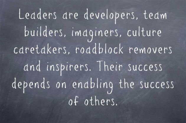 Leaders are...