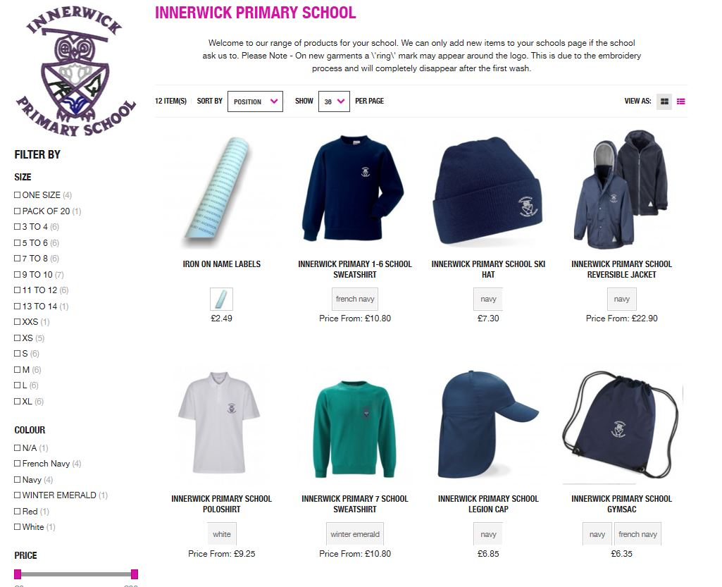 @Innerwickprim    Official school uniform for Innerwick Primary - available online now from BE Schoolwear, with home delivery.  Shop online here: https://bit.ly/2TYbXJq   Online cut off date for guaranteed back to school delivery: 20/07/20.  pic.twitter.com/XgJd4Xkx3R