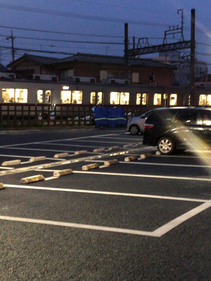 霞ヶ関駅で人身事故の現場の画像