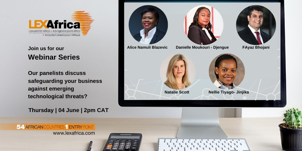 Join us for our webinar series:  Is your business safeguarded against emerging technological threats?  Register here: https://bit.ly/2TGwCkX  Speakers include Alice Namuli Blazevic, Natalie Scott, Nellie Tiyago-Jinjika, FAyaz Bhojani and Danielle Moukouri-Djenguepic.twitter.com/zx1KjKDRG6