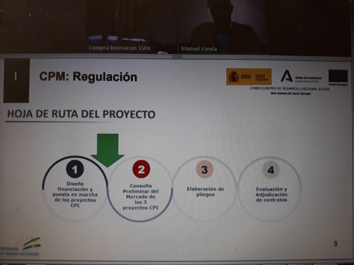Tiempo para el marco regulatorio y la legislación en el ámbito de la #CompraPúblicaInnovadora a cargo  de Manuel Varela de @Cotec_Innova. Puedes seguir el webinar en https://t.co/Gk9mUlHJZw https://t.co/nRmk4GnxsA