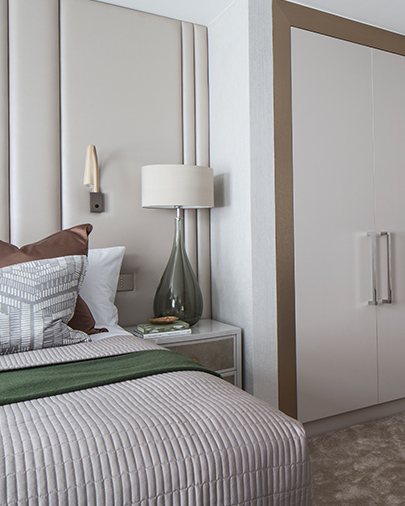 Neutral tones and hints of #green combined with layers of glorious #texture gives a warm yet #elegant feel to this welcoming #bedroom http://bit.ly/3eGHNT4 #interiordesign #bedroomdecor #bedroominspo #interiordecor #Interiorspic.twitter.com/PQGQvbLL3l