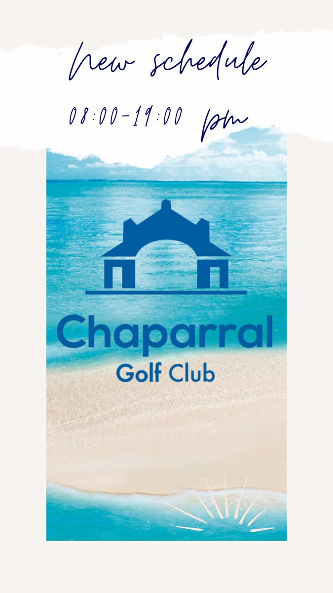 New schedule for June in Chaparral Golf! Golf Course, Driving Range, Academy and Restaurant.  #Chaparralisback #ChaparralGolfClub #HappyMonday #summer #summeroffer #Golfer #GolfSwing #SimplyChaparral #PlayGolfMálaga #Spain #Golf #Marbellapic.twitter.com/f8DW2zgo0I
