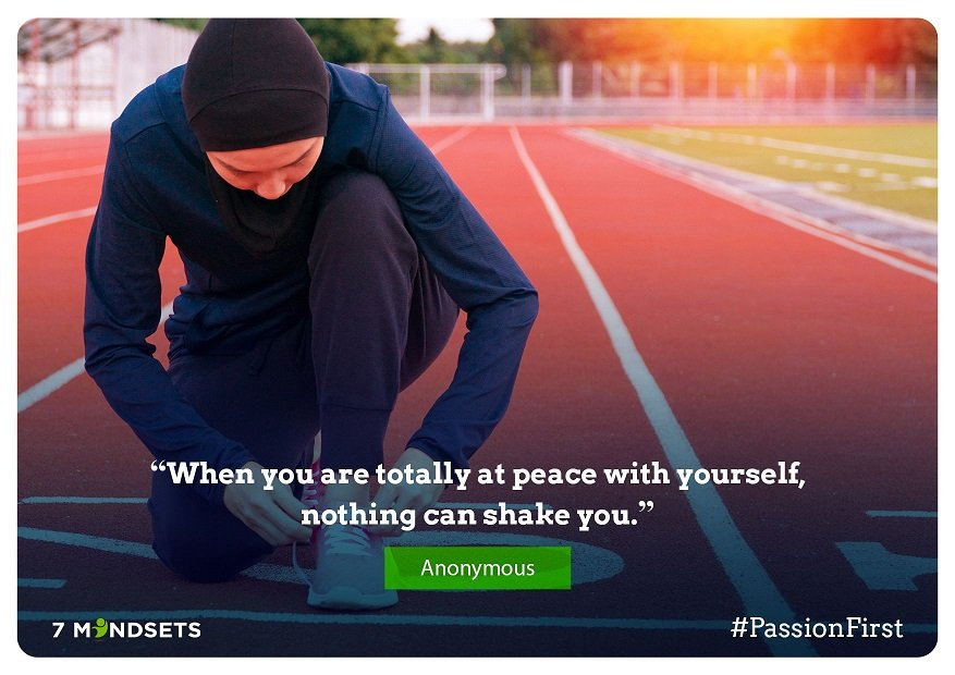 """""""When you are totally at peace with yourself, nothing can shake you."""" - Anonymous #QOTD #7Mindsets #SEL #socialemotionallearning #passionfirstpic.twitter.com/iR6BQDceiP"""