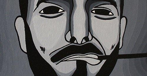 Autoportrait 50 x 50 cm Peinture Acrylique #autoportrait #blackandwhite #artcontemporain #art #acrylicpainting @LefrancOfficiel @pinceauxleonardpic.twitter.com/ugMWXwvWcw