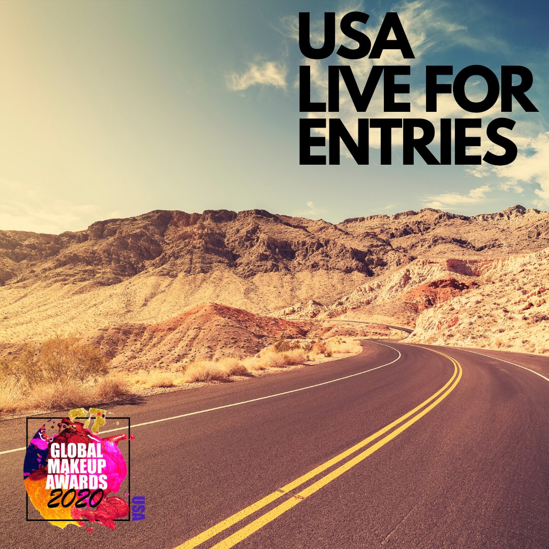 The USA 🇺🇸 is now open for entries in the USA global makeup awards  #makeup #beauty #awards #skincare #usa
