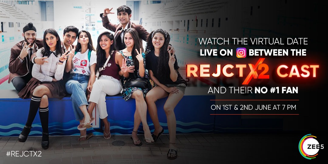 Catch the cast of #REJCTX live on Instagram on the REJCTX page with their fan on a virtual date. 1st and 2nd June 7 pm onwards!   Follow the page now: https://t.co/KqiZqYecud   @Anishavictor @prabhneetoyye @MasiWali @ridhik @trshinde https://t.co/qiK4vlVYO1
