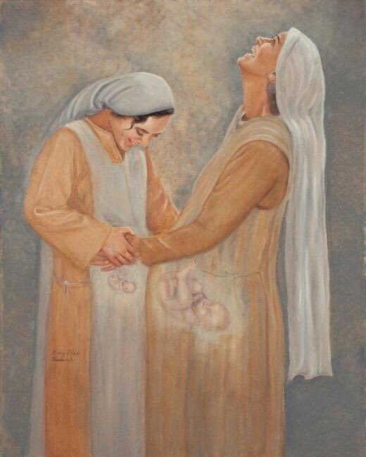 I think today is my favourite feast of Mary. It's so humble and also profound. Two women in need of the gift of friendship. Speaks to us all #visitation #virginmary #baby pic.twitter.com/O5L7d8mZ3f