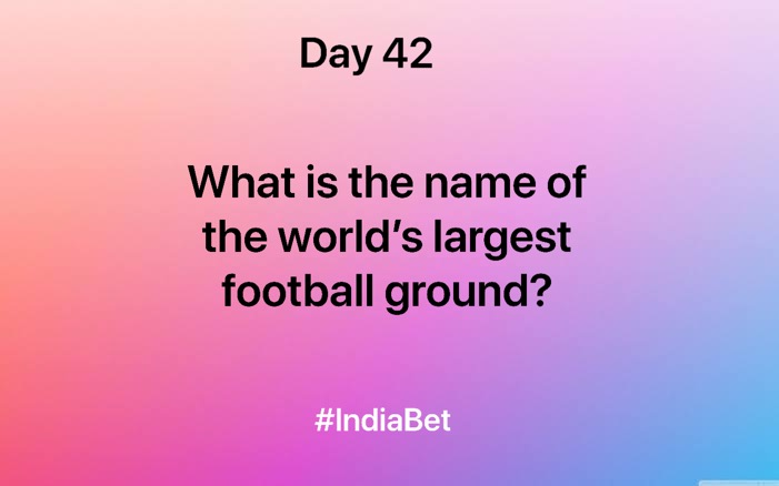 Day 42!   Comment the right answer & win 3000 IBR!  #ContestAlert #SportsBiz #Soccer #FootBall #FootBallQuiz #Gaming #MobileGames #Cricket https://t.co/Wlk9QKcs4n