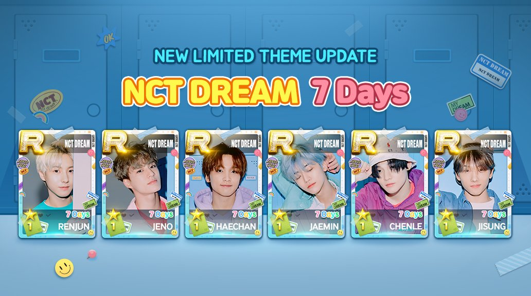 [Spread the word!]  7 Days by #NCTDREAM is updated!  Tell NCTzen around! Today's update is a new NCT DREAM song plus limited theme! pic.twitter.com/4tLzqcRlhM