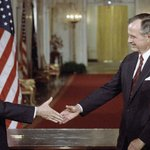 Image for the Tweet beginning: #OTD 1990: At a summit